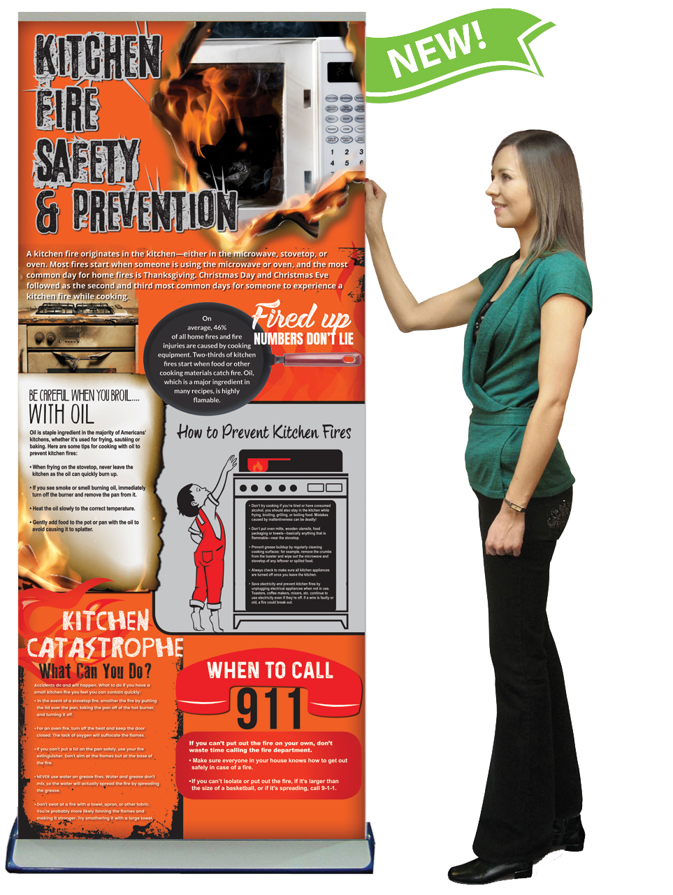 Kitchen Fire Safety Retractable Banner