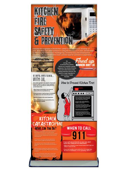 Kitchen Fire Safety Retractable Banner
