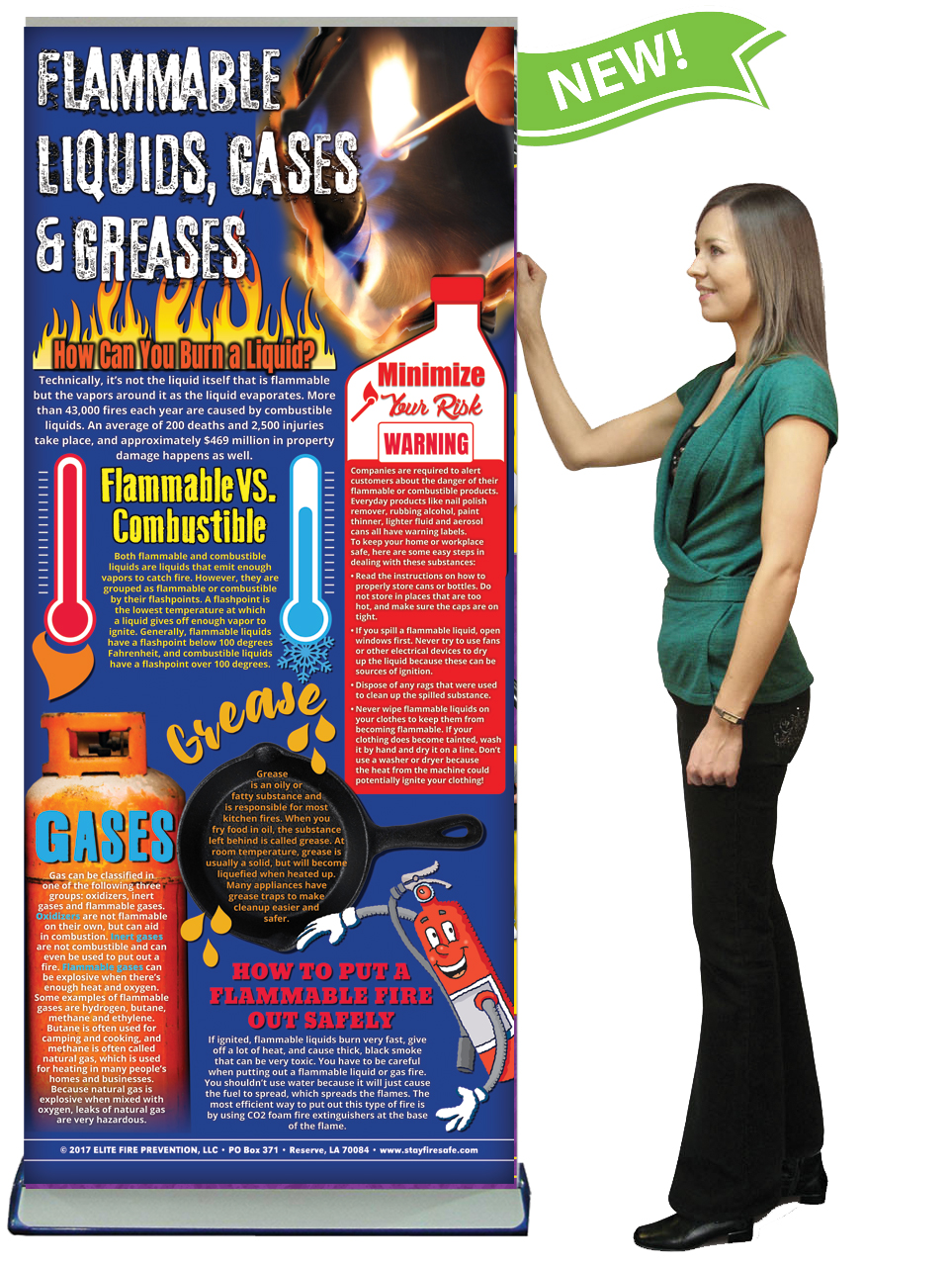 BAN-FMSS-03-Flammable-Liquids,-Gases,-&-Greases-BANNER-NEW-FLAG-with-LADY