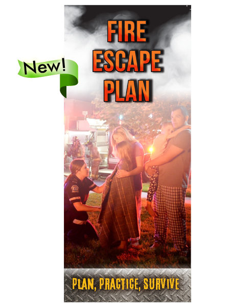 Fire Escape Plan: Plan, Practice, Survive Pamphlet