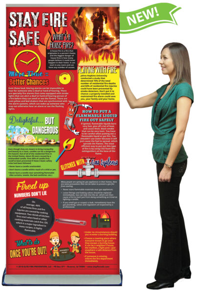 BAN-FMSS-09-Stay-Fire-Safe-BANNER-STAND-NEW-FLAG-LADY