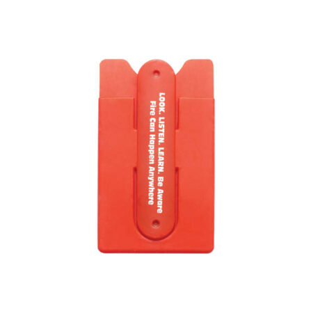 Fire Prevention Week 2018-SILICONE-SMART-WALLET-WITH-STAND