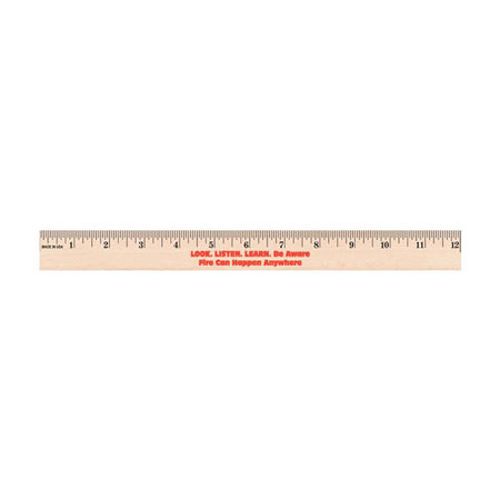 Fire Prevention Week 2018-WOODEN-RULER